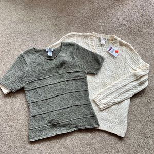 Northern Reflections Sweaters, Bundle of 2